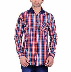 Cotblend Men's Casual Shirt (COTBLEBD10-L, Multi-Coloured, L)