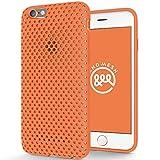 AndMesh 日本製 iPhone 6 ケース 4.7インチモデル メッシュケース ソフトケース 割れない傷つかないのに優しい質感の日本製エラストマー使用 オレンジ