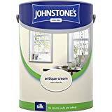 Johnstones No Ordinary Paint Water Based Interior Vinyl Silk Emulsion Antique Cream 5 Litre