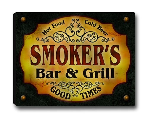 Smoker Family Bar & Grill Stretched Canvas Print
