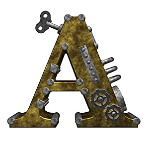 Wallmonkeys WM284339 Steampunk Letter a Peel and Stick Wall Decals (18
