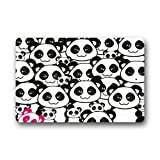 Cute Cartoon Panda Machine Washable Non-slip Doormat,23.6(L) x 15.7(W) Inch