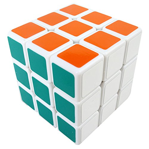 Dodolive Shengshou 3x3x3 Brain Teaser Track Magic Cube Funny Educational Aurora Plastic Magic Cube Puzzle,White
