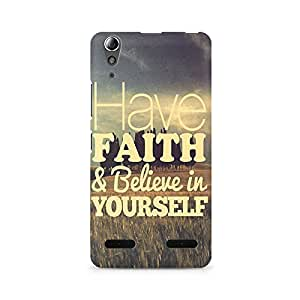 Mobicture Have Faith Premium Printed Case For Lenovo A6000