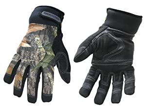 Youngstown Glove 05-3470-99-XL Camo Waterproof Winter Gloves, XLarge, Mossy Oak Camo