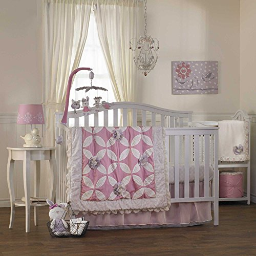 Living Textiles Violet 4 Piece Crib Set - 1