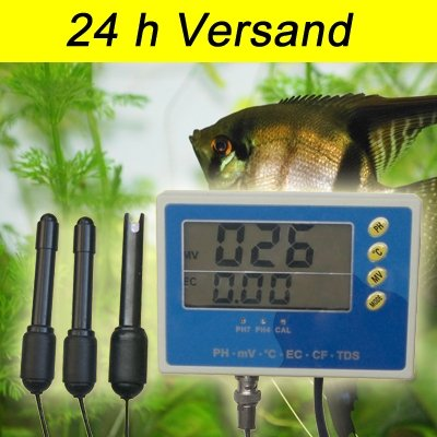 6-IN-1 Multi Meter Tester Aquarium EC CF TDS PH °C Redox Messgerät P28