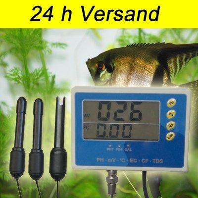 6-IN-1 Multi Meter Tester Aquarium EC CF TDS PH °C Redox Messgerät P28
