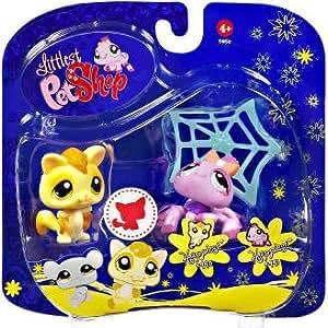 Hasbro - Littlest Pet Shop - Ecureuil volant et copine araignée - #990#991