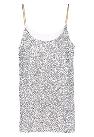 Online shopping for Vest Tops from a great selection at Clothing Store. Butterme Women's Sexy Deep V Chain Halter Sleeveless Backless Metal Vest Sequin Crop Top Club Wear (Silver) £ Prime. Only 1 left in stock - order soon. out of 5 stars 4. Morgan Women's Shirt.