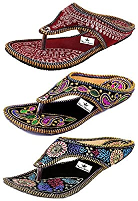 Thari Choice Woman and Girls Ethnic Slipper (Pack of 3)
