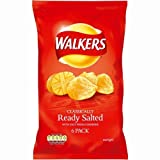 Walkers Ready Salted Crisps 6 Pack 150g