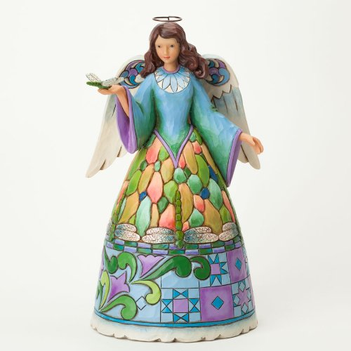Jim Shore for Enesco Heartwood Creek Dragonfly Angel Figurine, 9.25-Inch