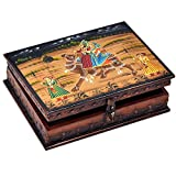 UFC Mart Wooden Hand Painted Dhola Maru Jewellery Box