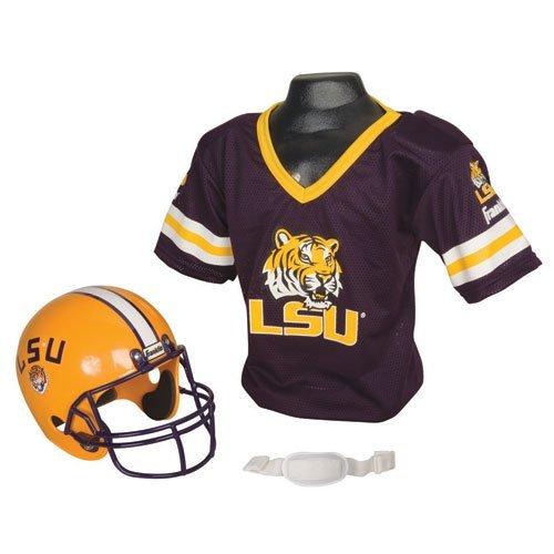 LSU Tigers Football Helmet & Jersey Top Set