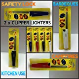 2 x CLIPPER TUBE GAS LIGHTERS KITCHEN BBQ CANDLE CAMPING COOKER LIGHTER **FREE UK POST** CAMPING FIRE LIGHTERS COOKING