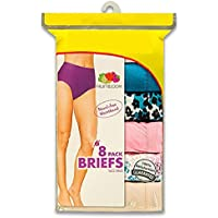 8-Pk. Fruit of the Loom Ladies Cotton Briefs