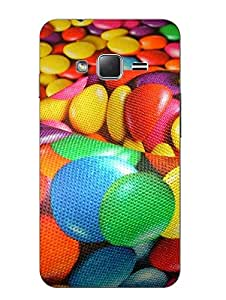 Snazzy Printed Multicolor Hard Back Cover For Samsung Z1