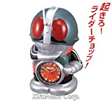 リズム時計[シチズン]目覚まし時計 仮面ライダー 4SE502RH05 緑メタリック色アナログ