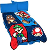 Nintendo Microraschel Throw, 46-Inch by 60-Inch, Super Mario Time to Team up