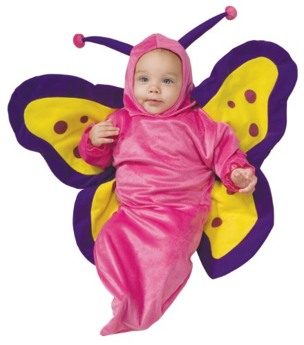 Deluxe Baby Bunting, Butterfly Costume, 0 to 9 Months - 1