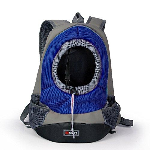 Lnhome Pet Carrier Portable Outdoor Travel Backpack Dog Cat (Blue, Medium)