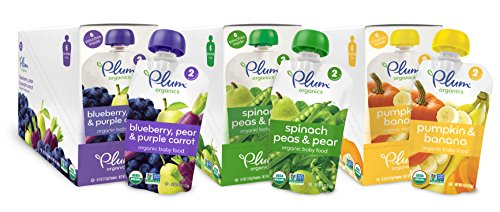 Plum Organics Second Blends Variety Pack, 4 Ounce (Pack of 18) (Babies Food compare prices)