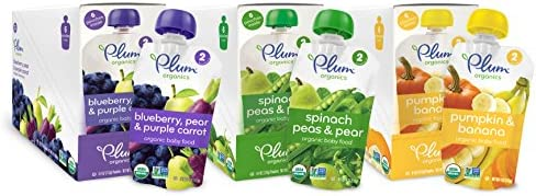 Plum Organics Baby Second Blends Variety Pack 4 Ounce Pack of 18