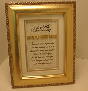 Elegant 50th Anniversary Toast - 50th Wedding Anniversary Party Gift - Made in USA