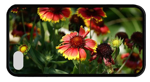 Cool Iphone 4 Best Covers Blanket Flowers Tpu Black For Iphone 4/4S front-627600
