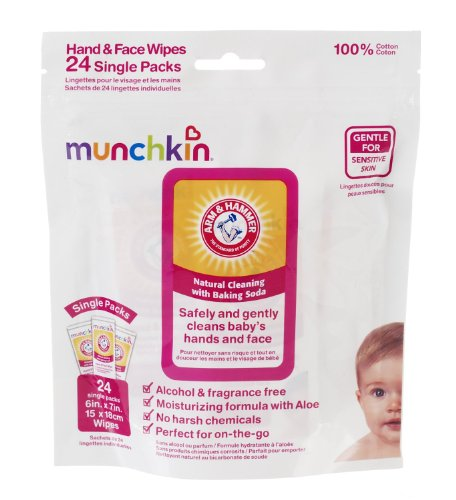 Arm & Hammer Hand And Face Wipes, 48-Count (2 X 24-Count Packs) front-509687