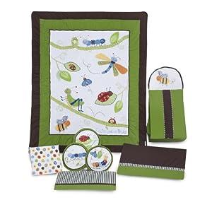 Kids Line 8 Piece Crib Bedding Set, Cute as a Bug