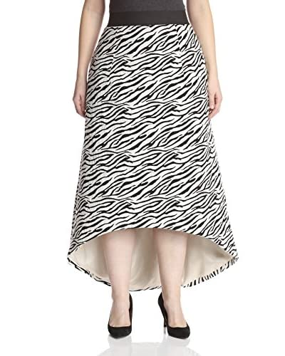 A.B.S. by Allen Schwartz Plus Women's Jacquard High Low Skirt