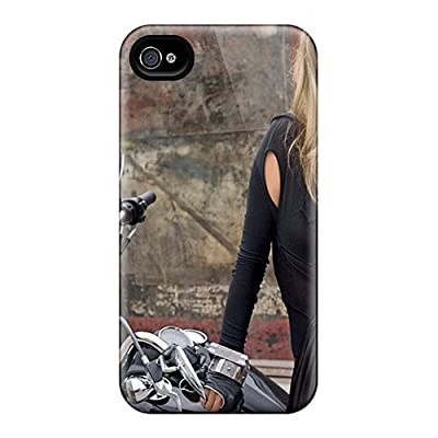 Fashion Tpu Case For Iphone 4/4s- Alessandra Ambrosio Defender Case Cover