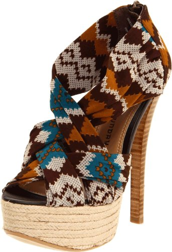 Chinese Laundry Women's Turn It Up Platform Sandal,Brown/Multi,9 M US