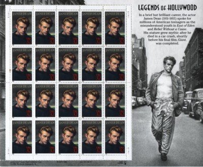James Dean 20 x 32 Cent U.S. Postage Stamps 1996