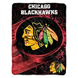 NHL Chicago Blackhawks Ice Dash Micro Raschel Throw Blanket, 46x60-Inch at Amazon.com