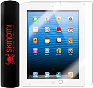 Skinomi® TechSkin - Apple iPad 4 with Retina Display Screen Protector Premium HD Clear Film with Lifetime Replacement Warranty / Ultra High Definition Invisible and Anti-Bubble Crystal Shield - Retail Packaging