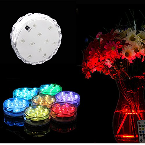 Aometech Multi Color Remote Controlled Submersible Underwater Led Lights For Aquarium, Pond,Wedding,Christmas,Halloween,Party,Events,Etc. (4 Pieces In One Set)