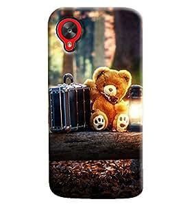Omnam Teddy Bear Printed Designer Back Cover Case For Google Nexus 5