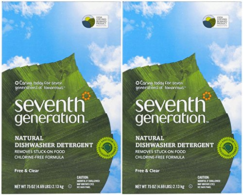 Seventh Generation Auto Dish Powder - 75 oz - Free & Clear - 2 pk (Seventh Dishwasher Detergent compare prices)