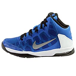 Nike Kids Air Without A Doubt (GS) Game Royal/Rflct Slvr/White/Black Basketball Shoe 7 Kids US