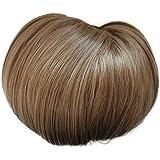 offener DUTT Haarteil Zopf Haarknoten Hepburn-Dutt Haargummi diverse Farbe (braunmix (6/27))