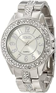 XOXO Women's XO5463 Rhinestone Accent Silver-Tone Analog Bracelet Watch