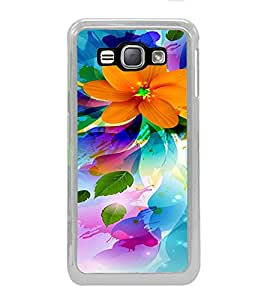 ifasho Flower Design multi color Back Case Cover for Samsung Galaxy J1 (2016 Edition)
