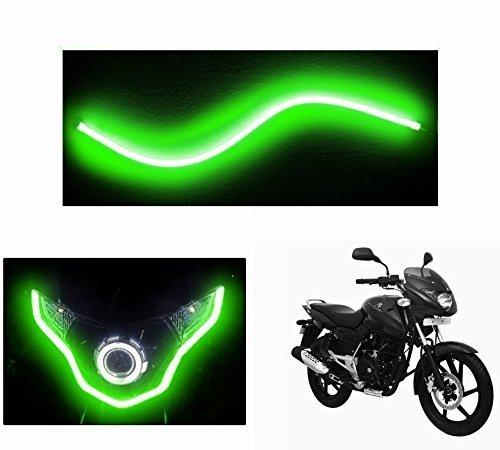 Speedwav Flexible 30cm Bike Headlight Neon LED DRL Tube GREEN-Bajaj