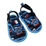 Infant Toddler Boy's Thomas the Tank Navy and Light Blue Canvas Thong Sandal