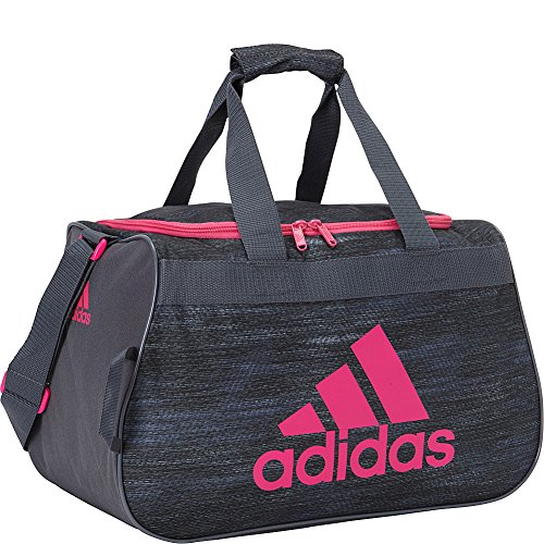 adidas Diablo Duffel Bag, Deepest Space Macro Heather/Shock Pink, Small