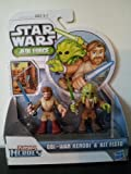 Hasbro Star Wars Jedi Force Playskool Heroes 2 Pack Obi-wan Kenobi & Kit Fisto