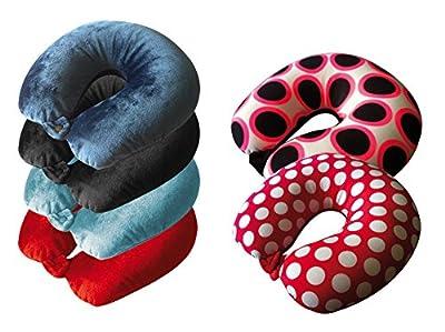 Nackenhörnchen Nackenkissen Tigasoft Design 2 rot/weiß flauschig Nackenstütze Neuware 1 Stück
